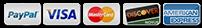 PayPal | Visa | MasterCard | Discover | American Express