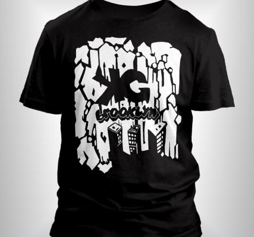KG Brooklyn T-shirt (Black/White)