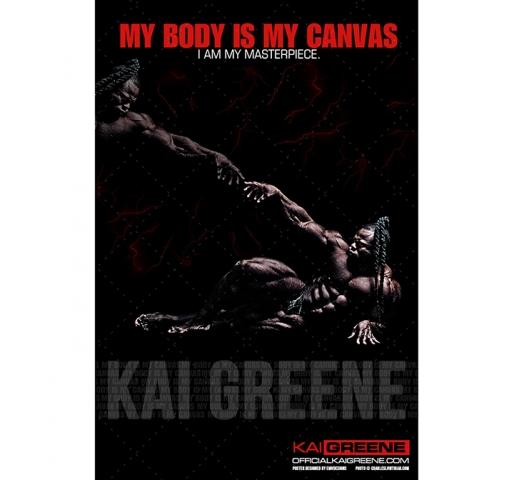 """I AM MY MASTERPIECE"" – Kai Greene Poster"